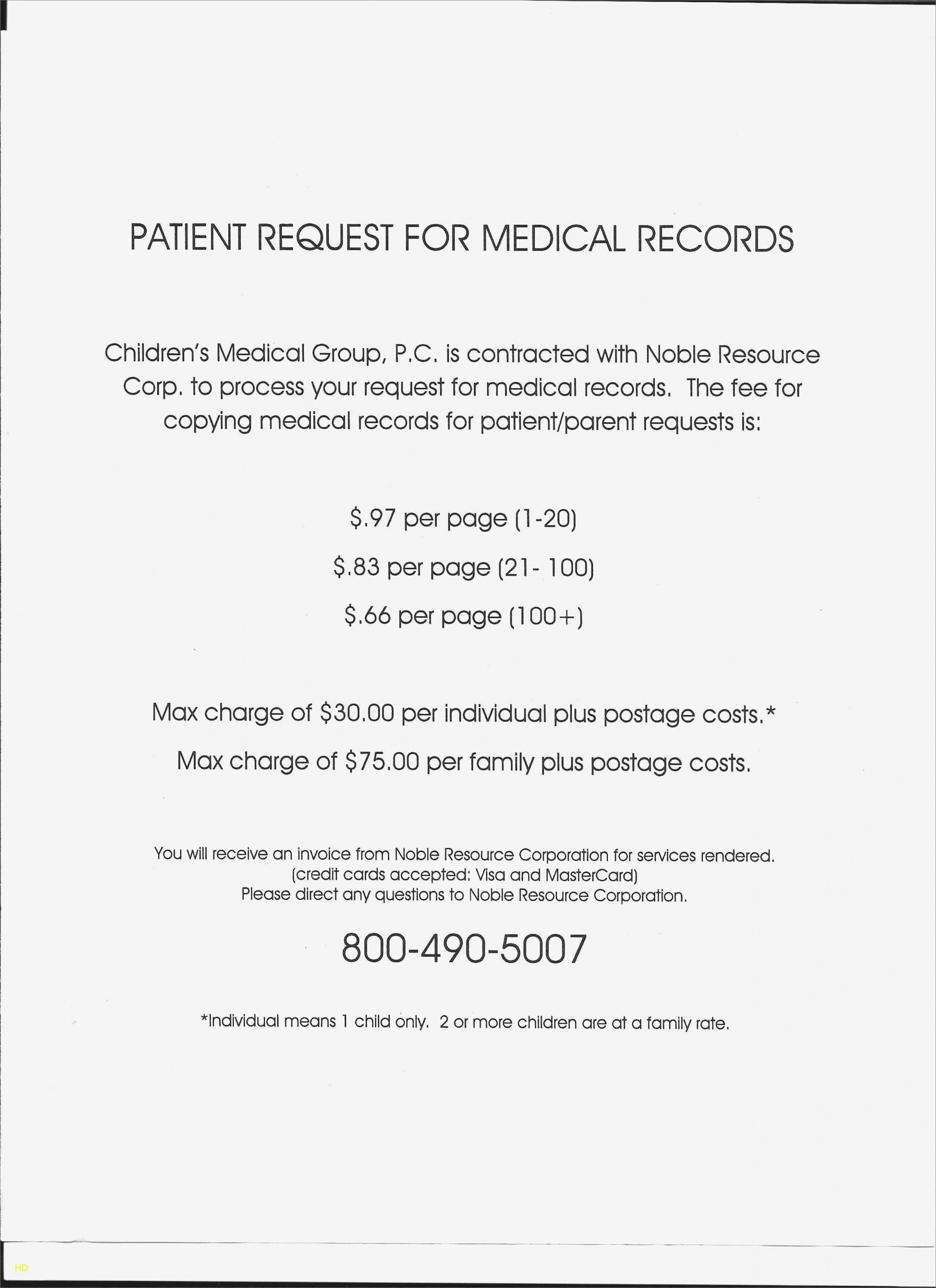 Medical Records Invoice Template Fresh 10 Medical Records Request form Template