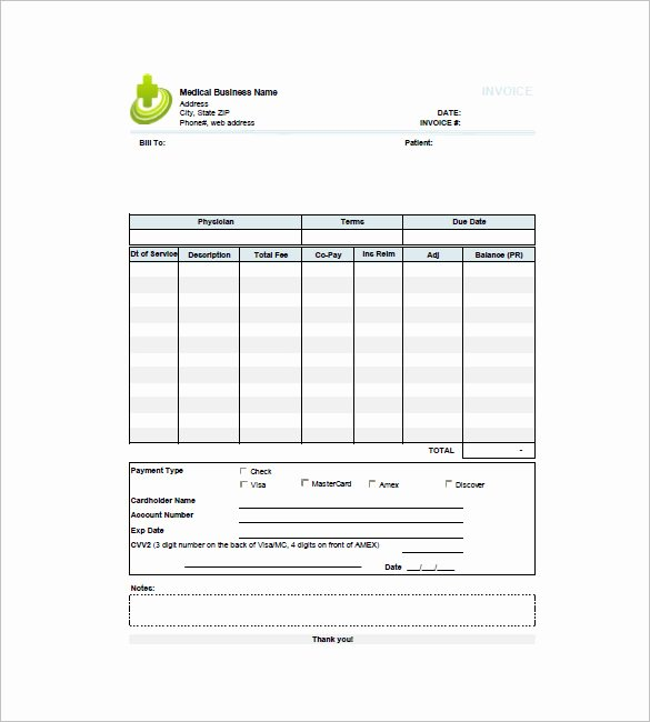 Medical Records Invoice Template Fresh 16 Medical Invoice Templates Doc Pdf