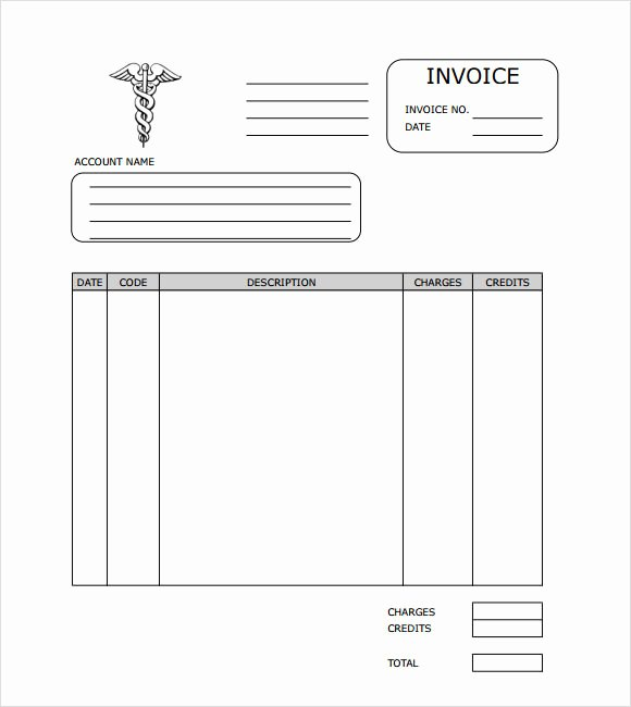Medical Records Invoice Template Lovely Free 10 Medical Invoice Templates In Free Samples