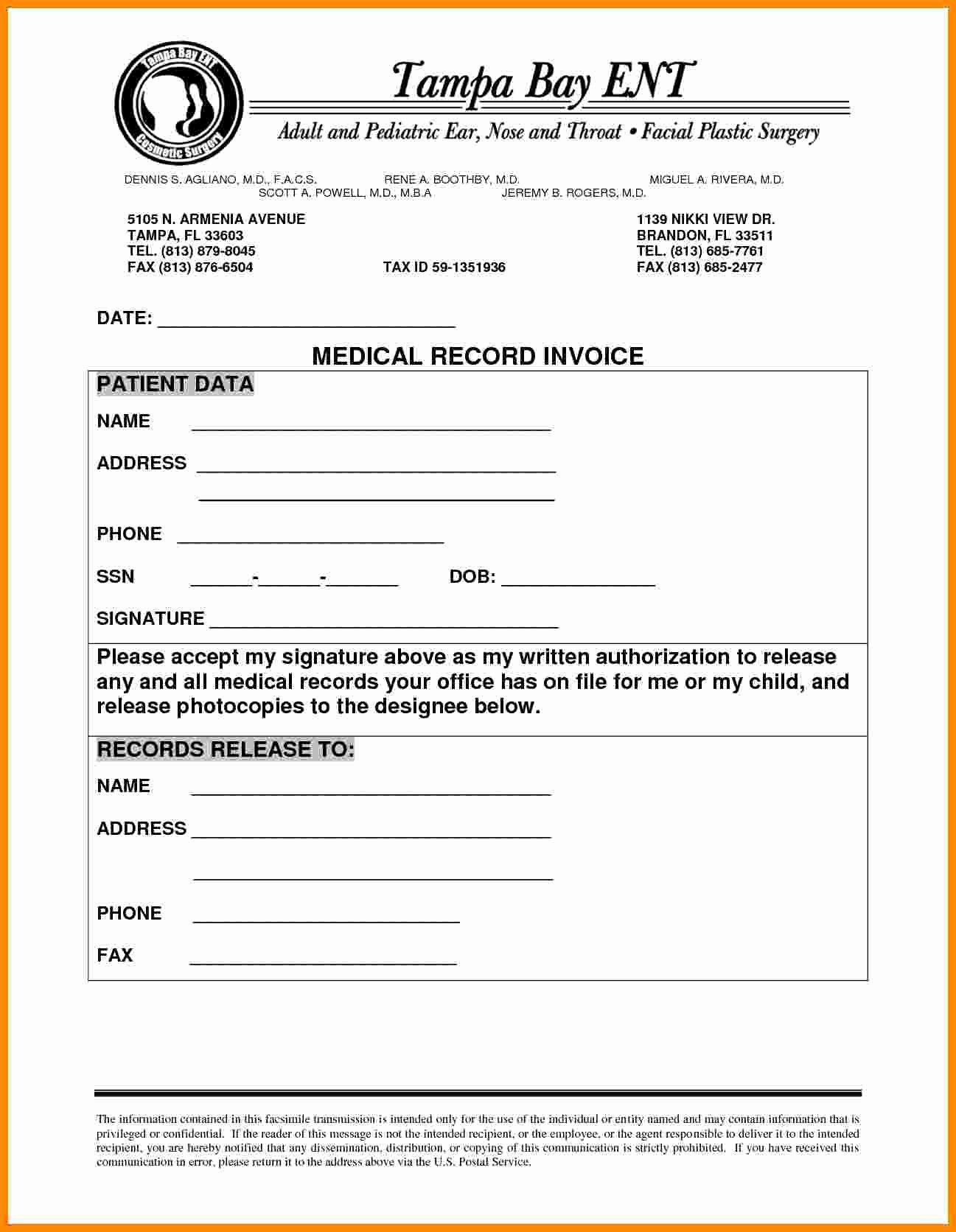 Medical Records Invoice Template Unique 4 Medical Records Invoice