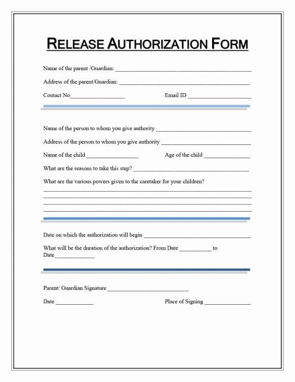 Medical Records Release form Template Elegant 40 Medical Records Release form Release Of Information
