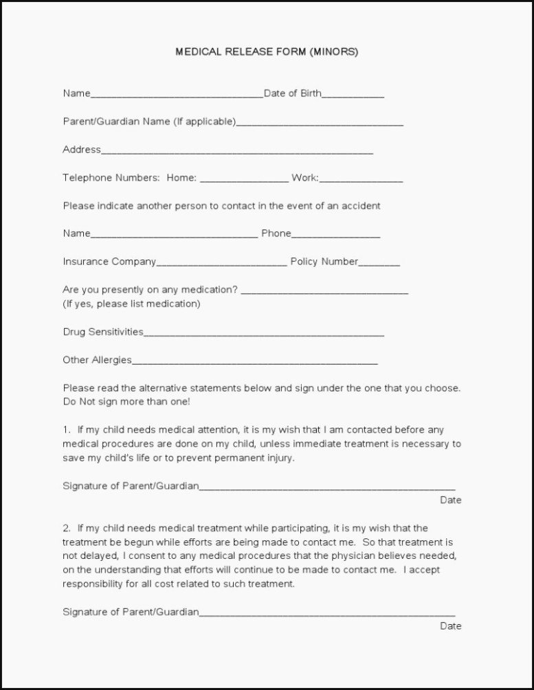 Medical Records Release form Template Fresh top 15 Trends In Medical