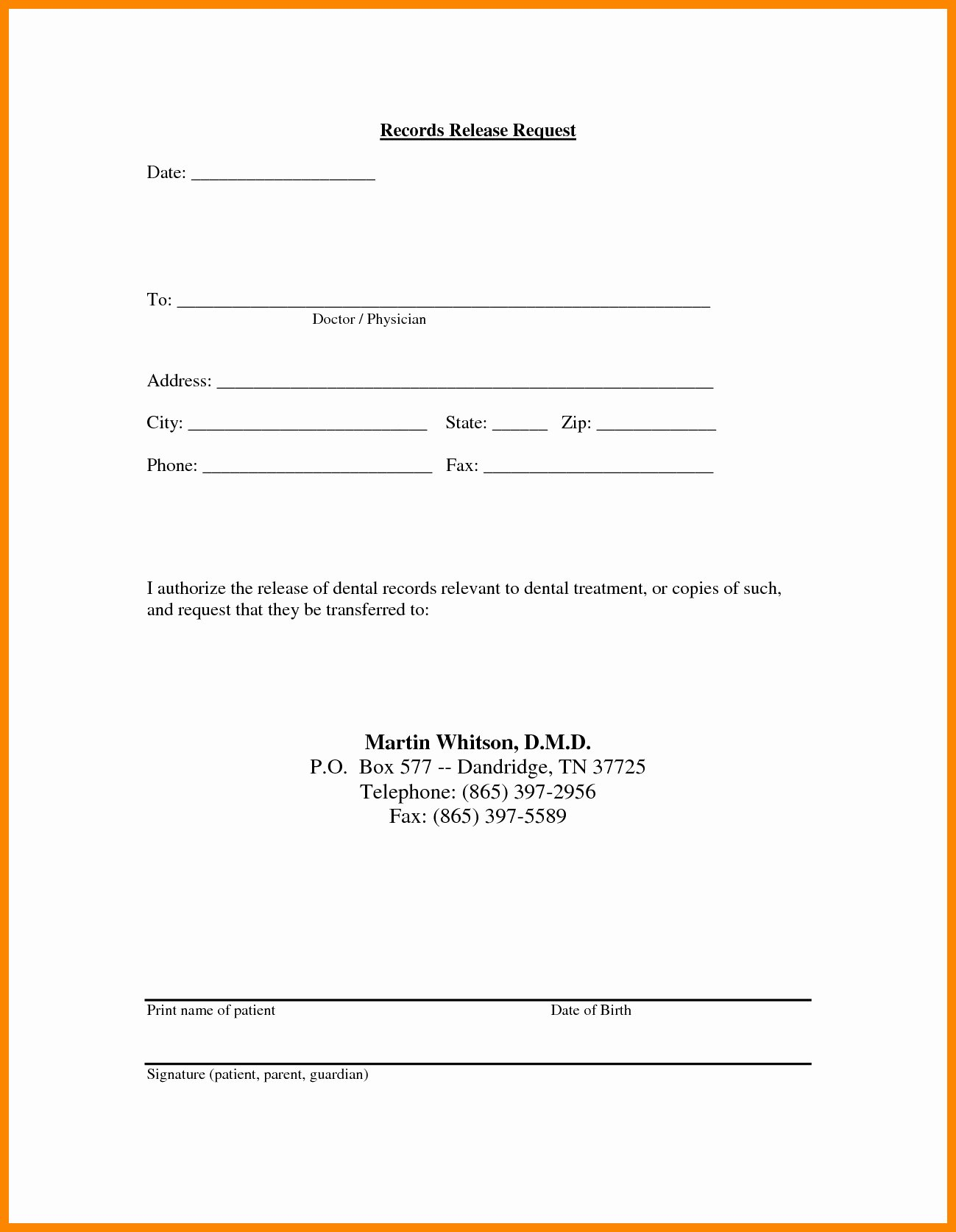 Medical Records Release form Template Inspirational Proof Loss Coverage Letter Template Samples