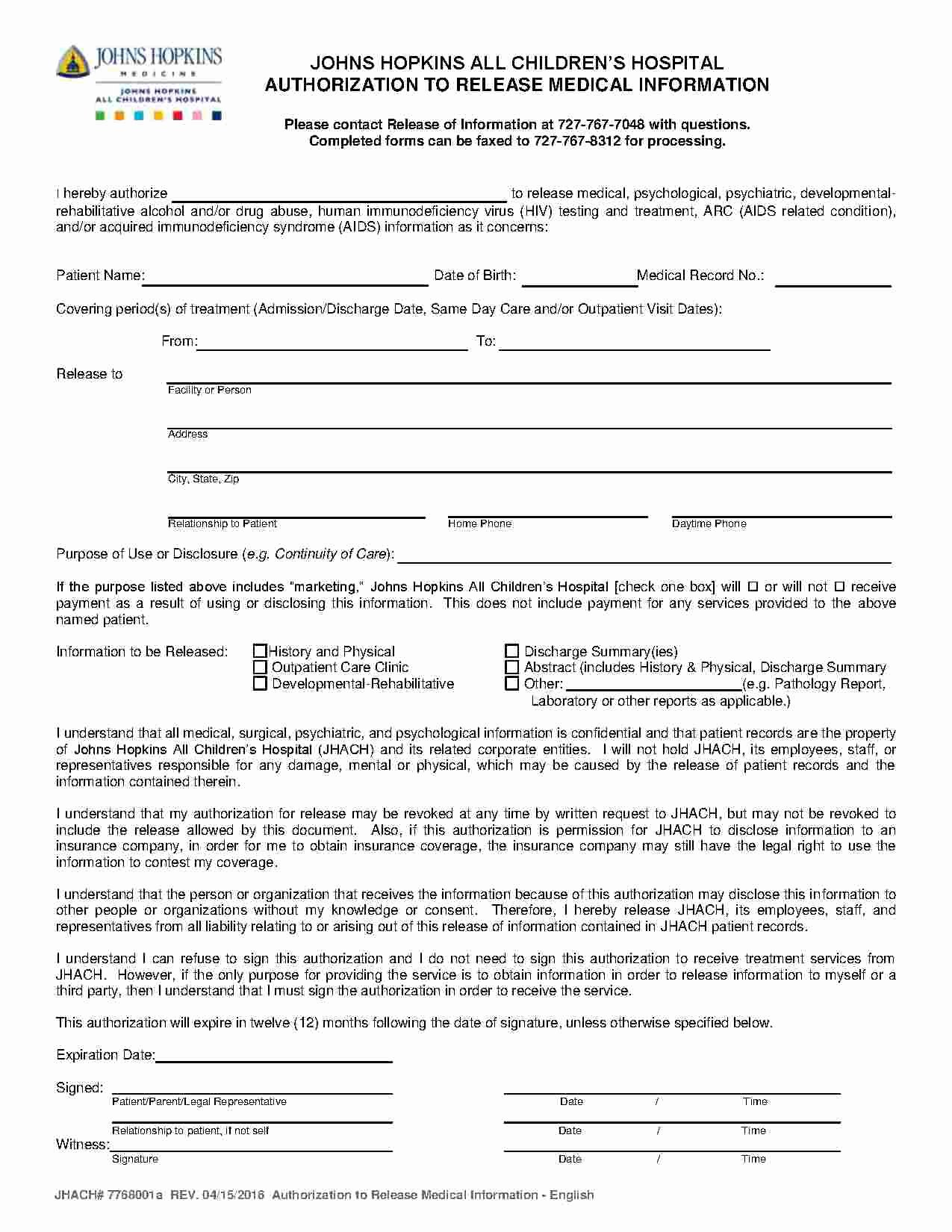 Medical Records Release form Template Unique Download Medical Records Release form Style 1 Template for