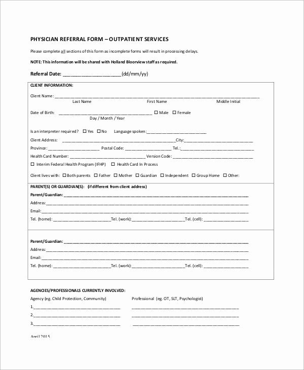 Medical Referral form Templates Awesome Sample Referral form 10 Examples In Word Pdf