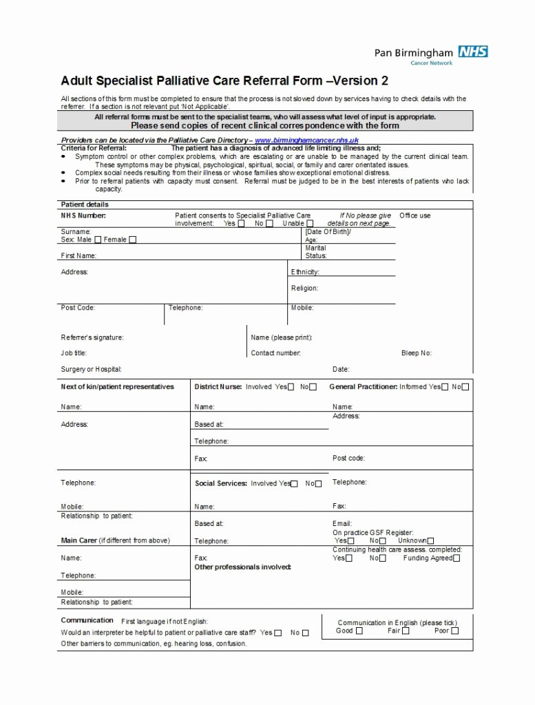 Medical Referral form Templates Beautiful Referral form Template Free Resume Word Patient Medical