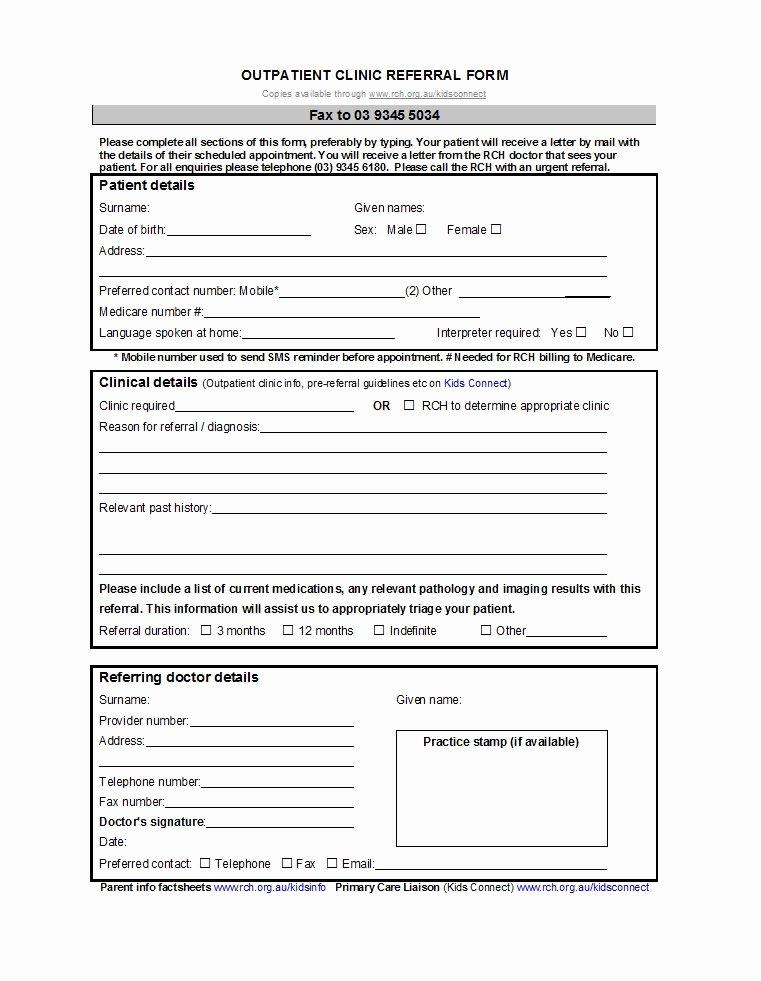 Medical Referral form Templates Elegant 50 Referral form Templates [medical & General] Template Lab