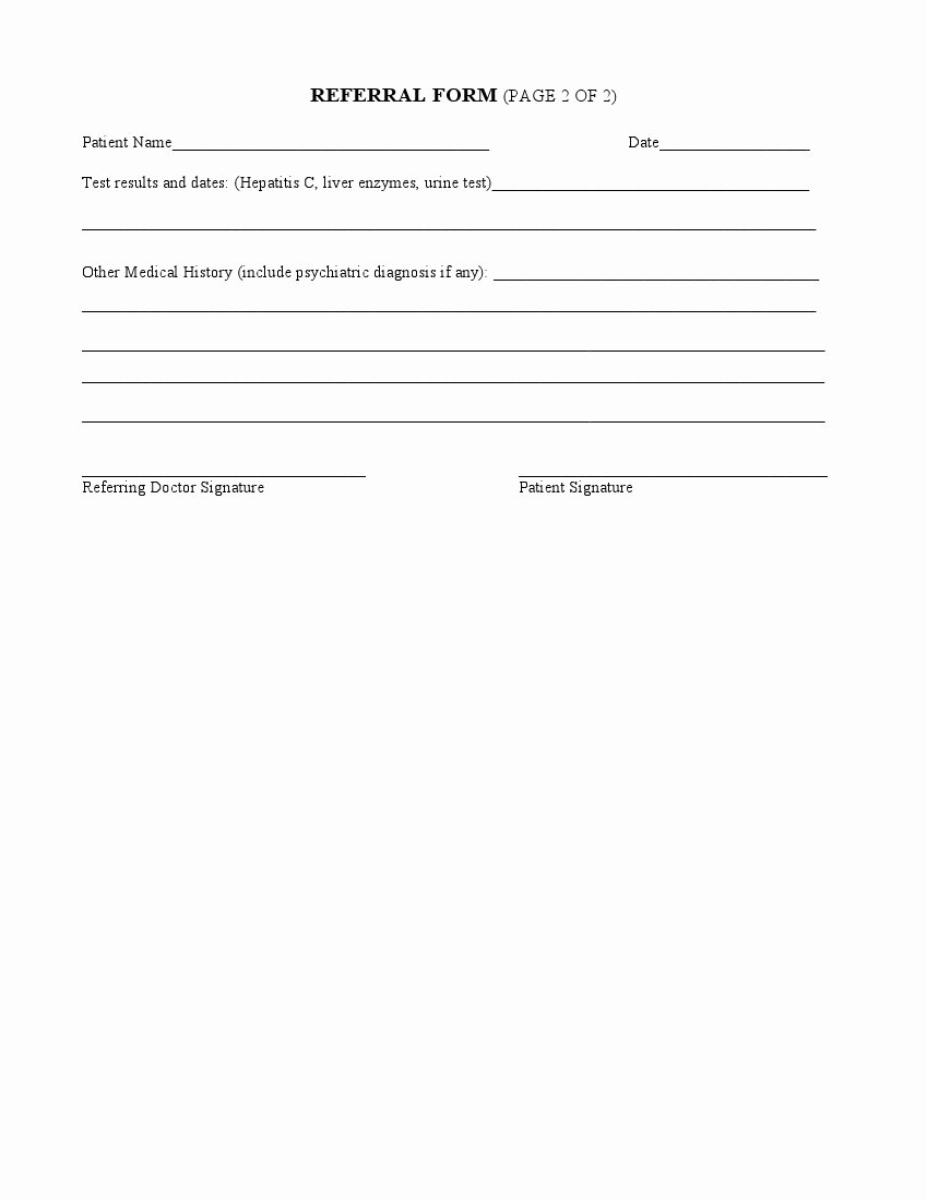 Medical Referral form Templates Elegant Medical Referral form – Medical form Templates