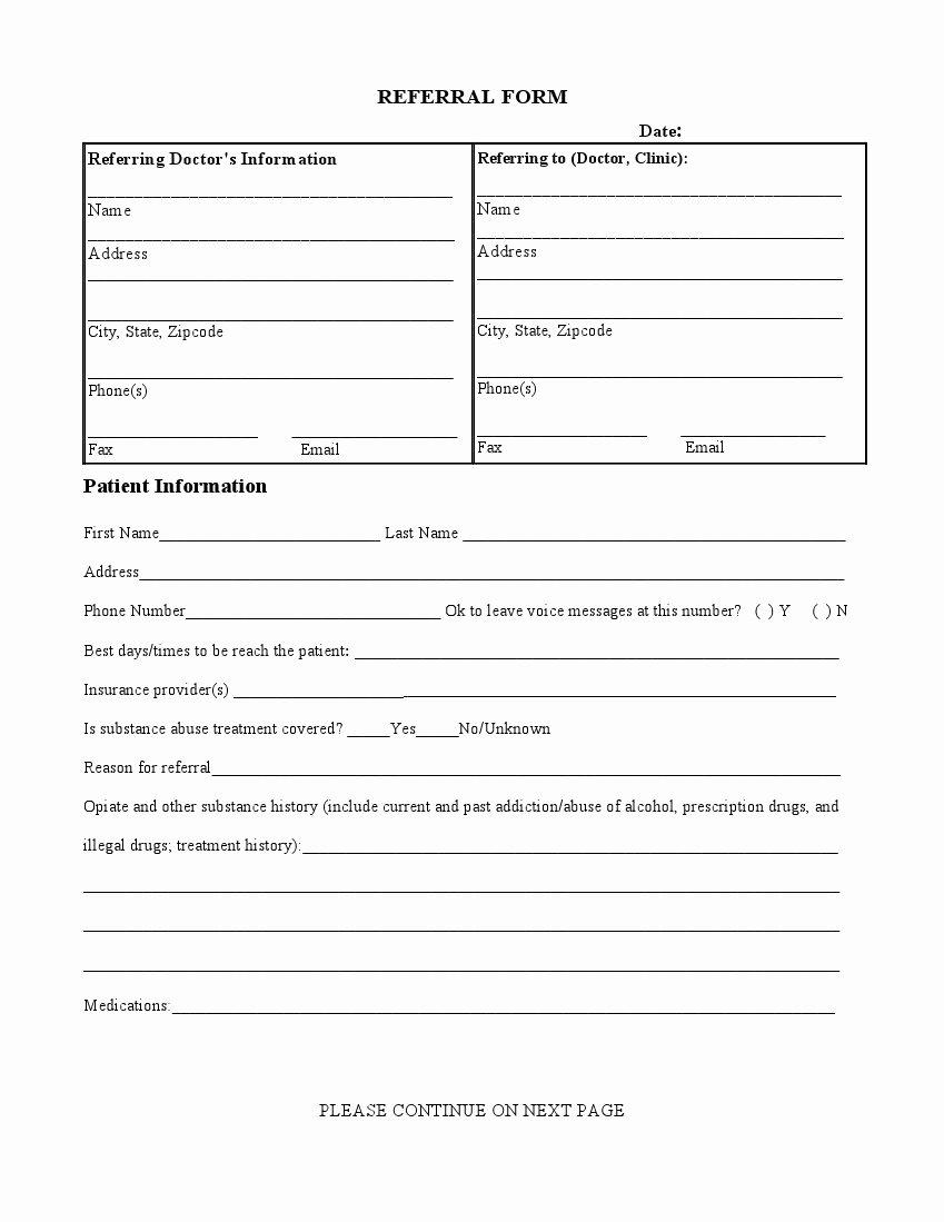 Medical Referral form Templates Inspirational Medical Referral form – Medical form Templates