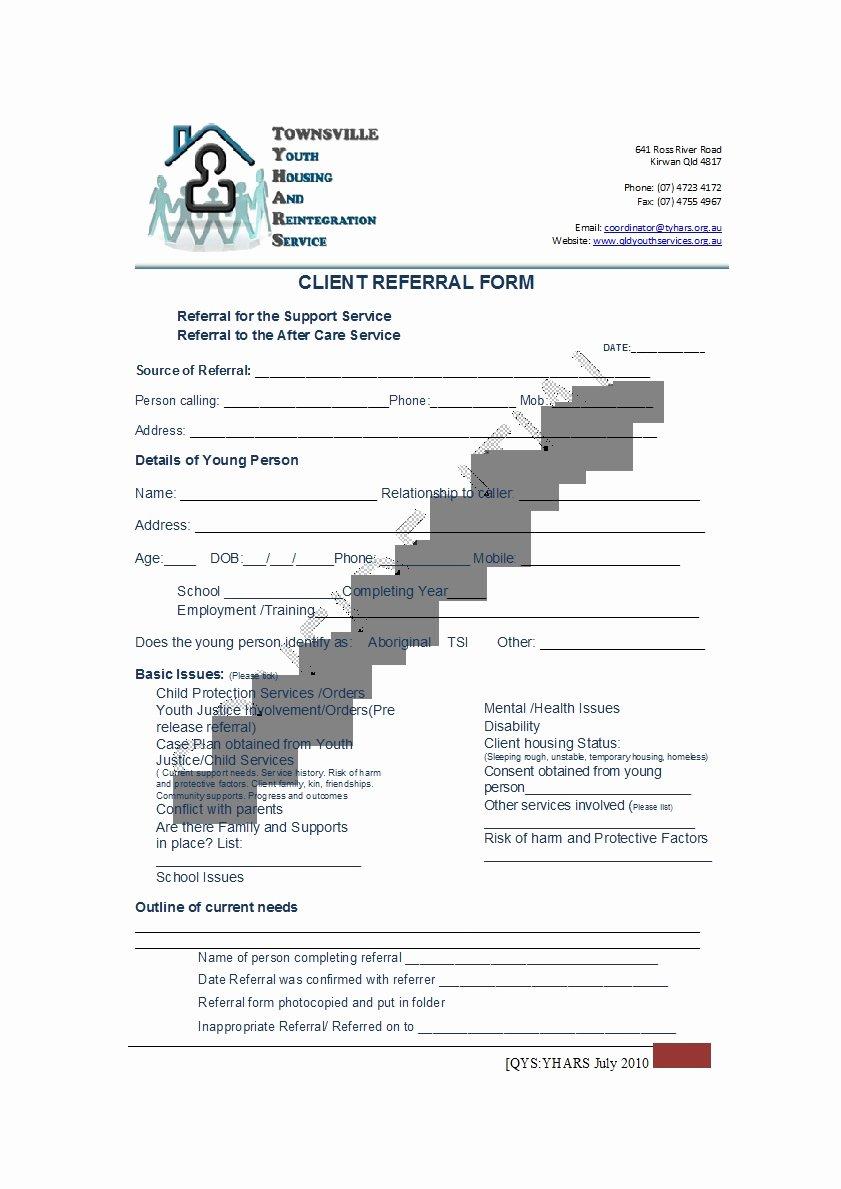 Medical Referral form Templates Unique 50 Referral form Templates [medical & General] Template Lab