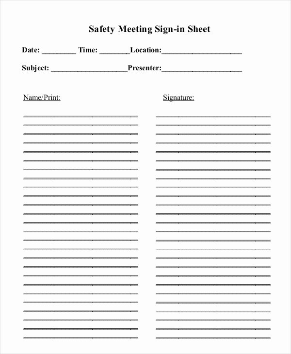 Meeting Sign In Sheet Template Luxury Sign In Sheet Template 12 Free Wrd Excel Pdf