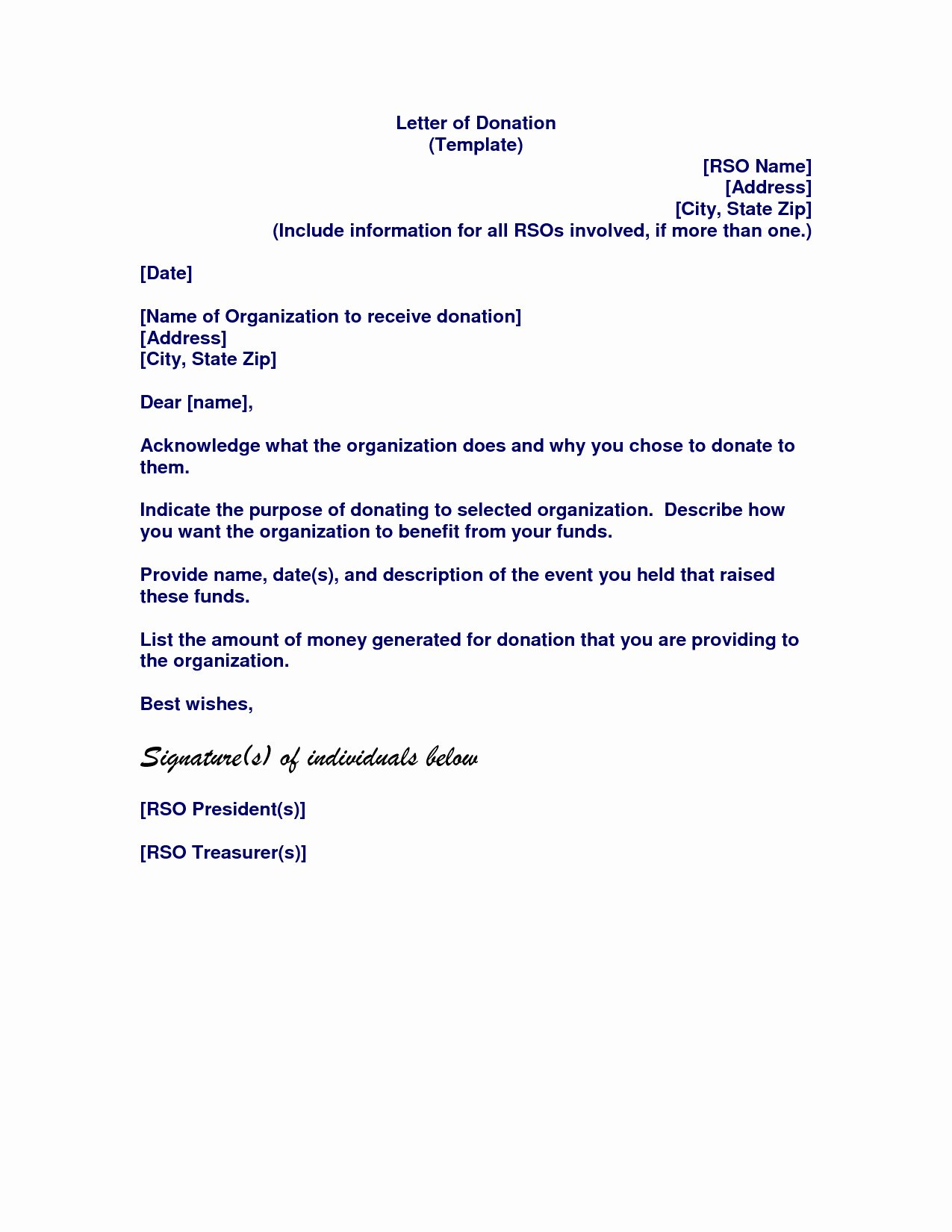 Memorial Donation Letter Template Elegant Request for Donation Letter Template Collection