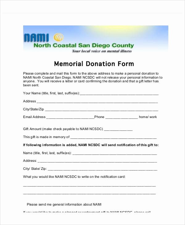 Memorial Donation Letter Template Lovely Sample Gift Letters 45 Examples In Pdf Word