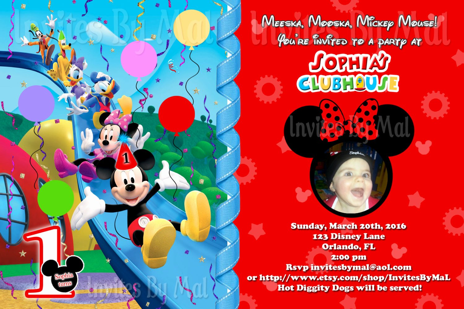 Mickey Mouse Invitations Template Awesome Mickey Mouse Clubhouse Birthday Invitation with by