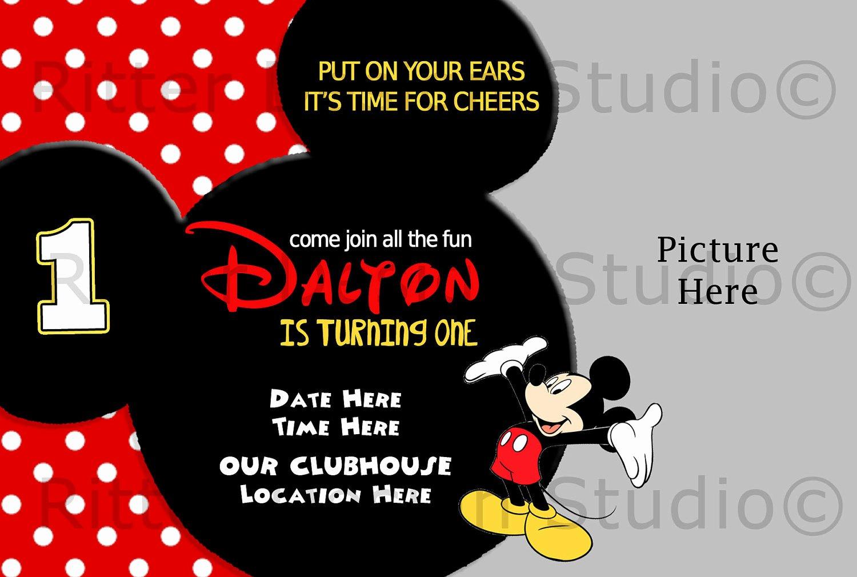 Mickey Mouse Invitations Template Beautiful Mickey Mouse Birthday Invitation by Ritterdesignstudio