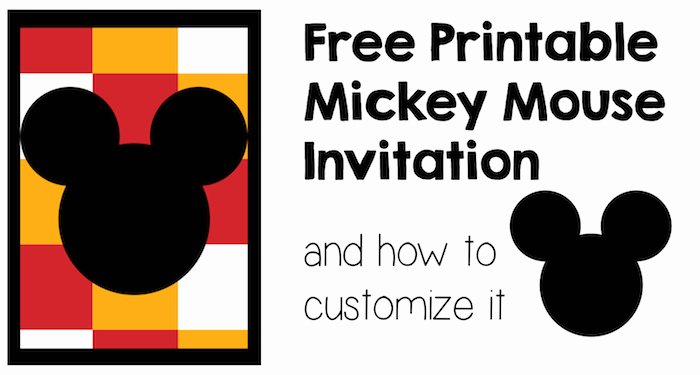 Mickey Mouse Invitations Template Elegant Five Mickey Mouse Free Printables Paper Trail Design