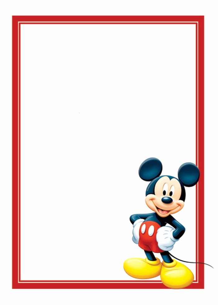 Mickey Mouse Invitations Template Elegant Free Mickey Mouse Invitations Template