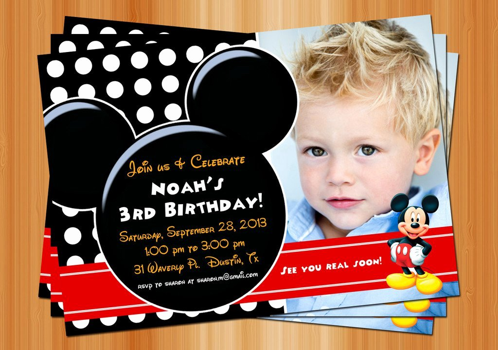 Mickey Mouse Invitations Template Fresh Exclusive Mickey Mouse Clubhouse Birthday Invitations