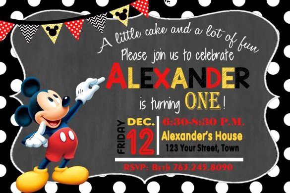 Mickey Mouse Invitations Template Lovely 30 Mickey Mouse Invitation Template