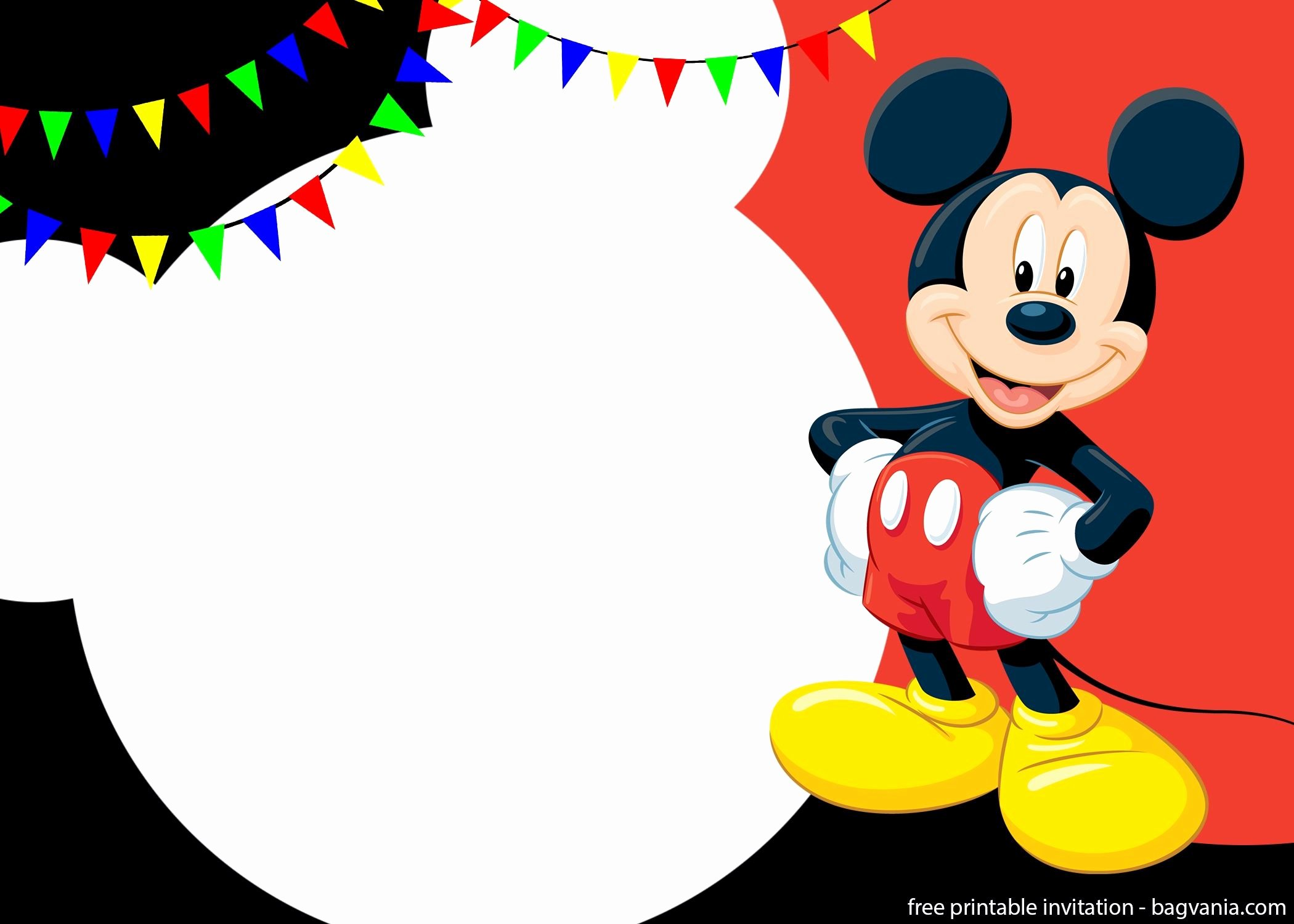 Mickey Mouse Invitations Template Lovely Free Printable Cute Mickey Mouse Invitation Templates