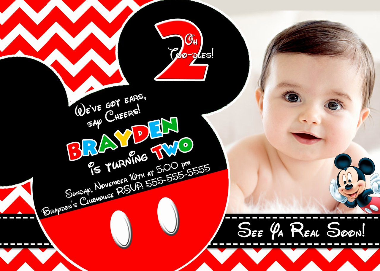 Mickey Mouse Invitations Template Lovely Mickey Mouse Clubhouse Invitations for Special Birthday Party