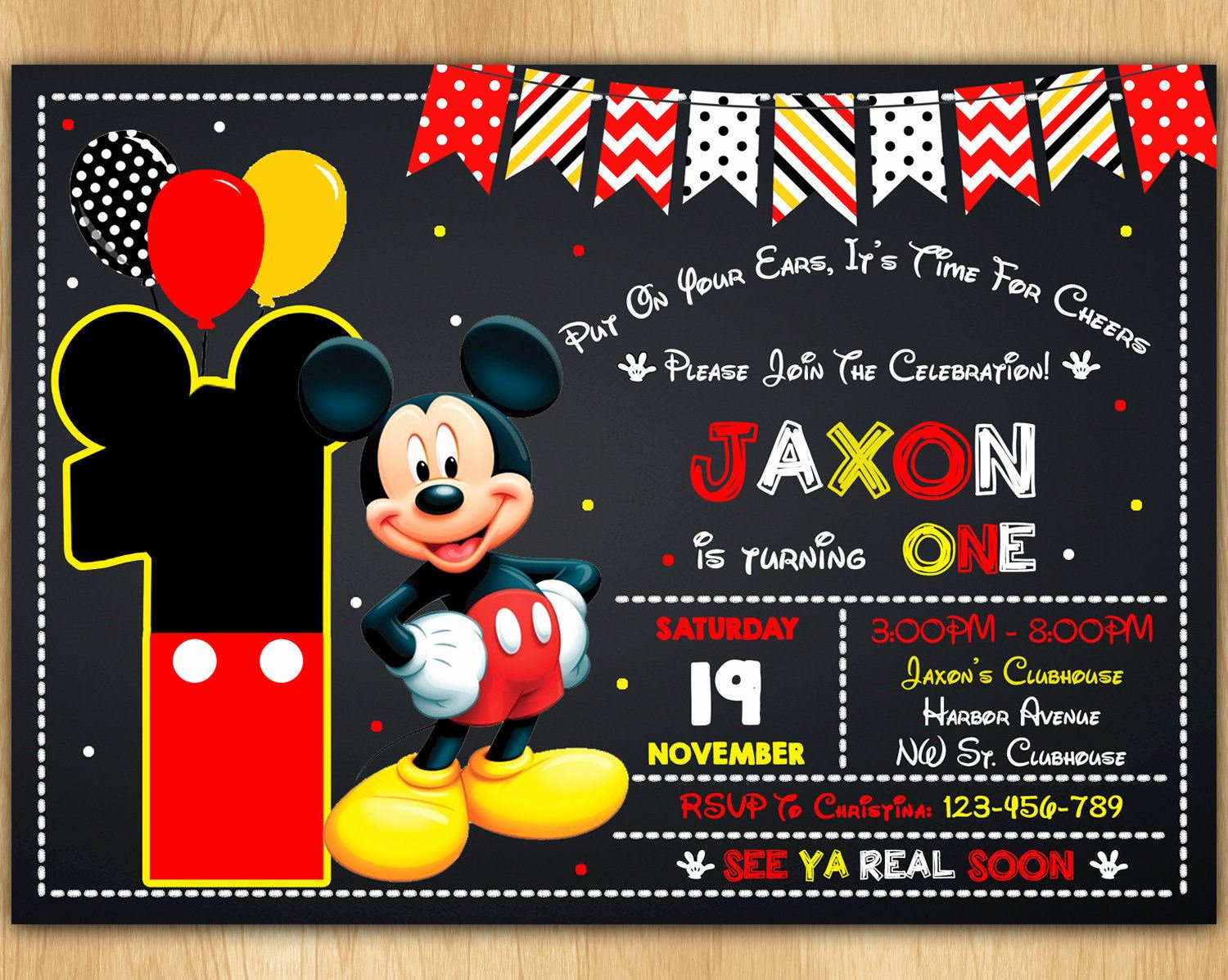 mickey mouse invitation mickey mouse