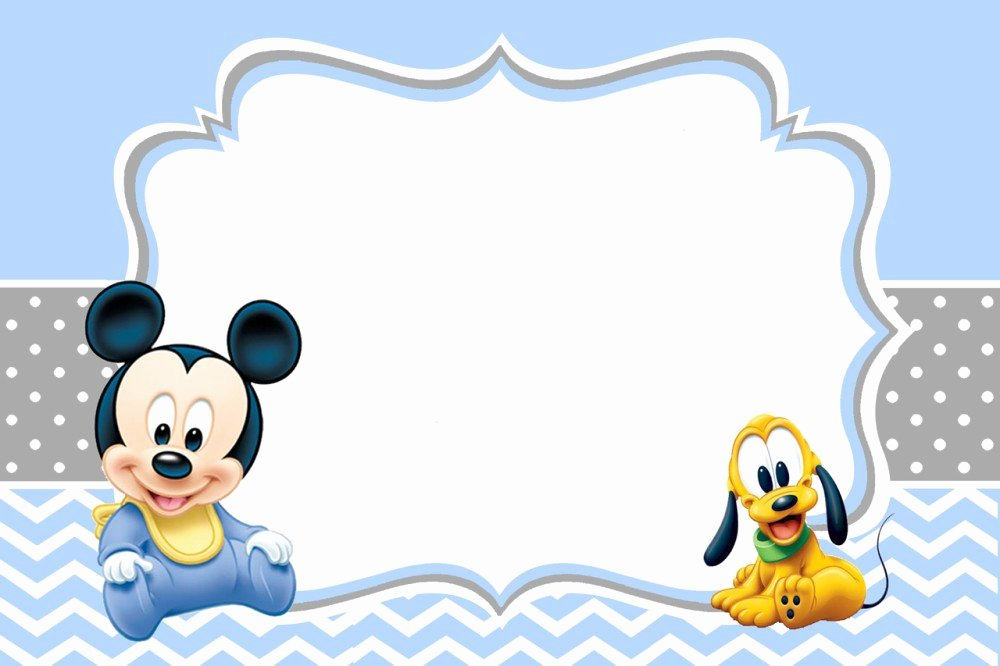 Mickey Mouse Invitations Template New Mickey Mouse Baby Shower Invitations