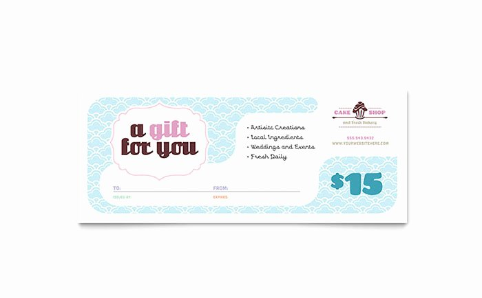 Microsoft Publisher Certificate Template Awesome Bakery & Cupcake Shop Gift Certificate Template Word