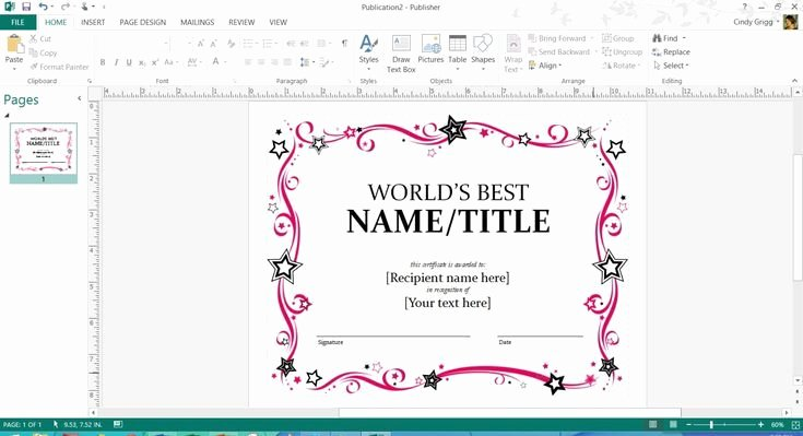 Microsoft Publisher Certificate Template Elegant Free Printable Microsoft Fice Templates for Mother S Day