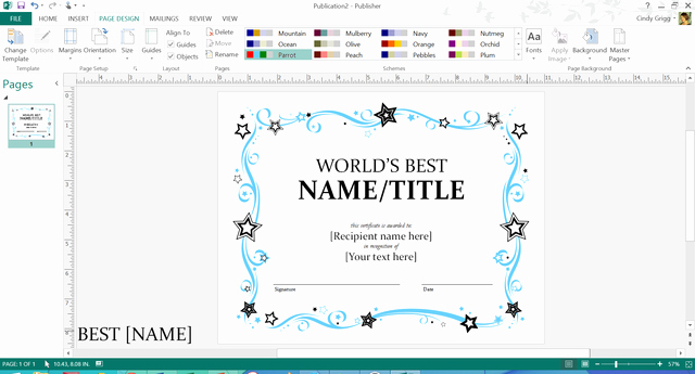 Microsoft Publisher Certificate Template Elegant Make Father S Day Simple This Year Thanks to Free