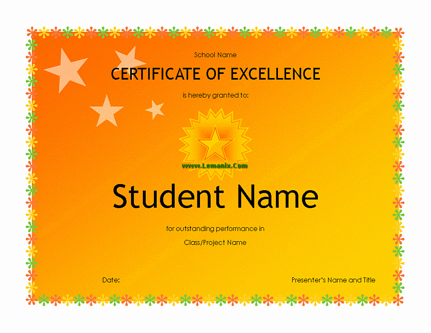 Microsoft Publisher Certificate Template Inspirational High School Student Award Microsoft Publisher Templates