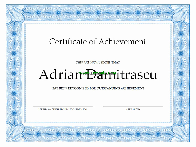 Microsoft Publisher Certificate Template Lovely Certificate Of Achievement Microsoft Publisher Templates