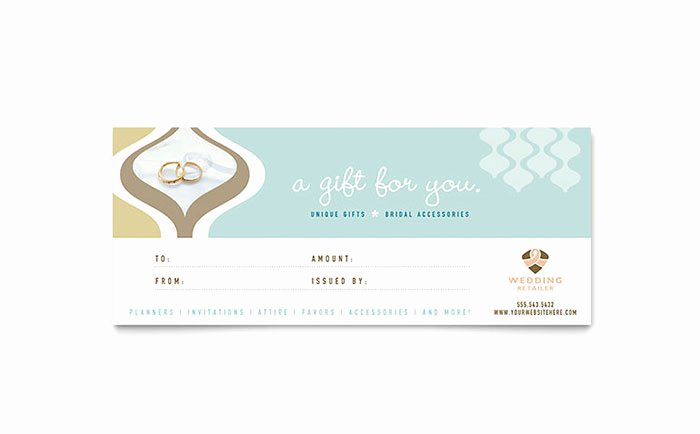Microsoft Publisher Certificate Template Lovely Wedding Store & Supplies Gift Certificate Template Word