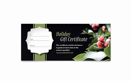 Microsoft Publisher Certificate Template Luxury Holly Leaves Greeting Card Template Word & Publisher
