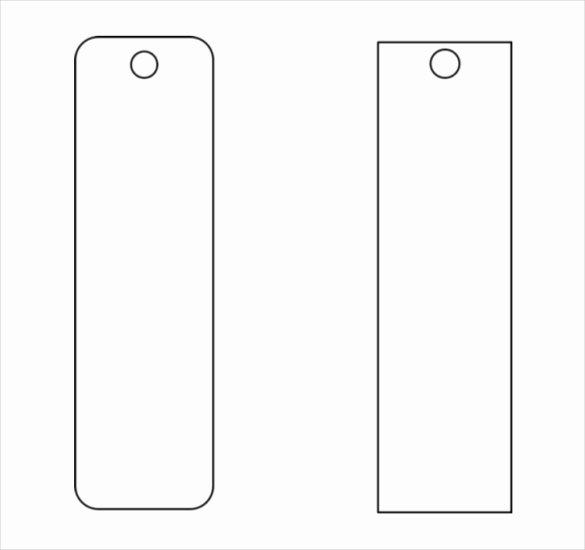 Microsoft Word Blank Bookmark Template Beautiful Blank Funeral Bookmark Template
