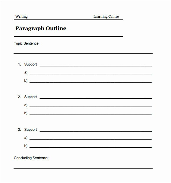 Microsoft Word Outline Template Elegant Free 5 Sample Blank Outline Templates In Pdf