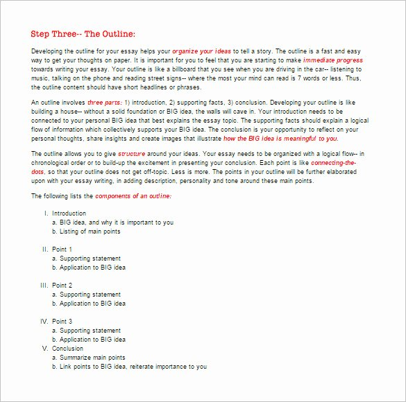 Microsoft Word Outline Template Inspirational Essay Outline Templates 10 Free Word Pdf Samples