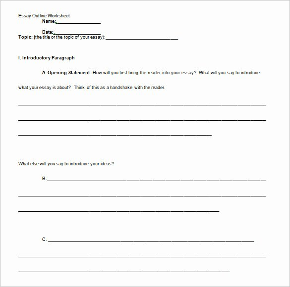 Microsoft Word Outline Template Lovely Essay Outline Templates 10 Free Word Pdf Samples