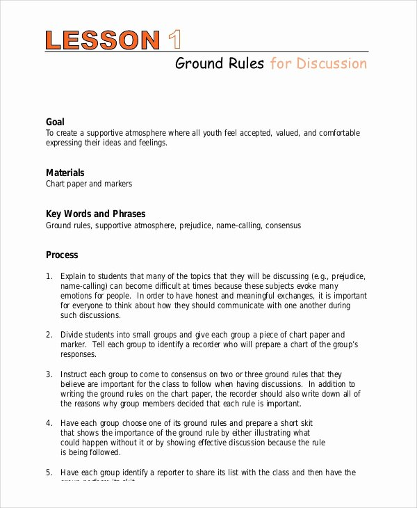 Middle School Lesson Plan Template Awesome Lesson Plan Example 9 Samples In Pdf Word