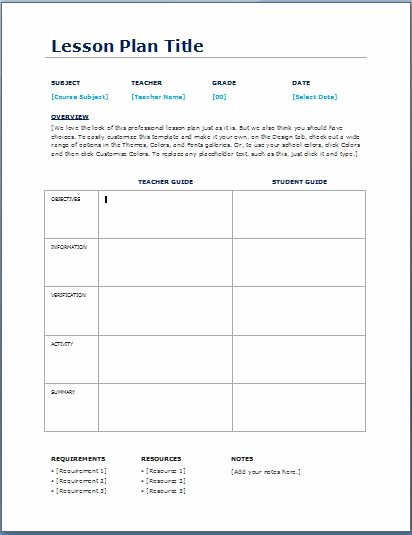 Middle School Lesson Plan Template Elegant Teacher Daily Lesson Planner Template Teaching