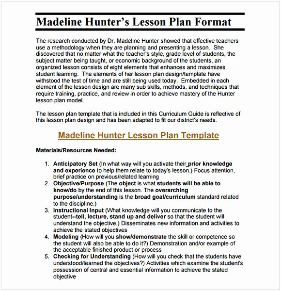 Middle School Lesson Plan Template Fresh Middle School Lesson Plan Template