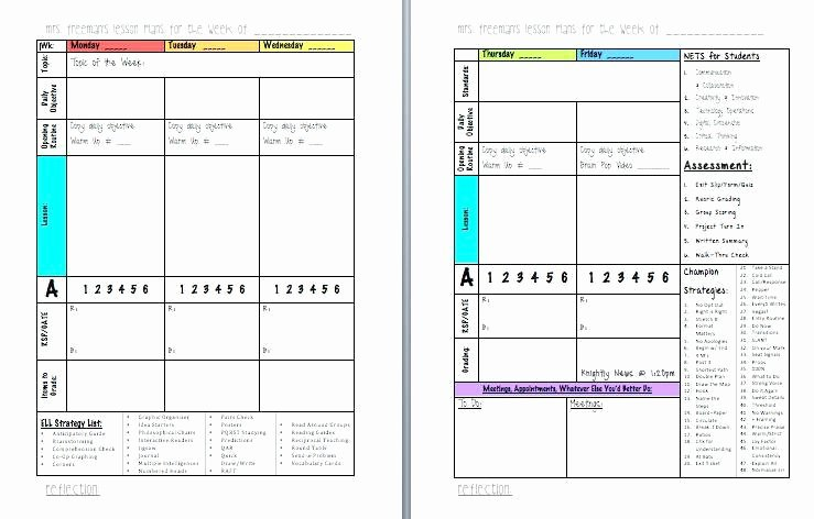 Middle School Lesson Plan Template Fresh Middle School Math Lesson Plan Template – Free Lesson Plan