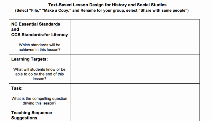 Middle School Lesson Plan Template Fresh Nyc Doe Lesson Plan Template – Empire State Information