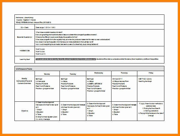 Middle School Lesson Plan Template Inspirational 6 Easy Lesson Plan Template Word