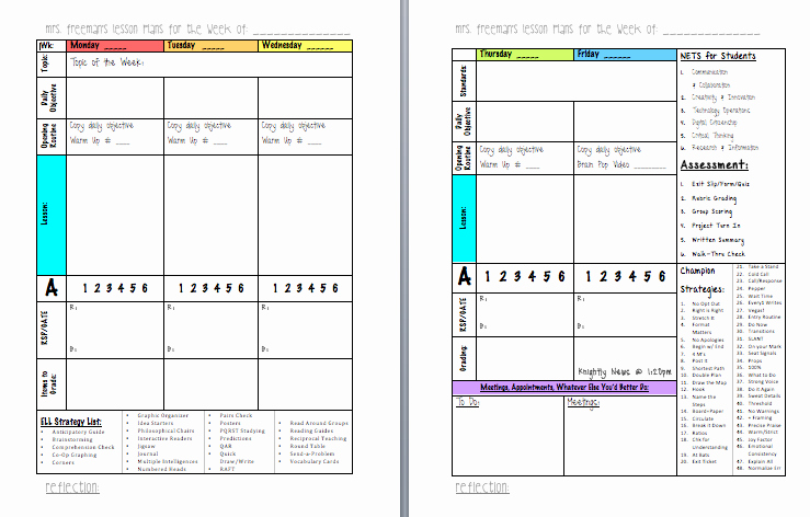 Middle School Lesson Plan Template Luxury Life In Middle School Lesson Planning format