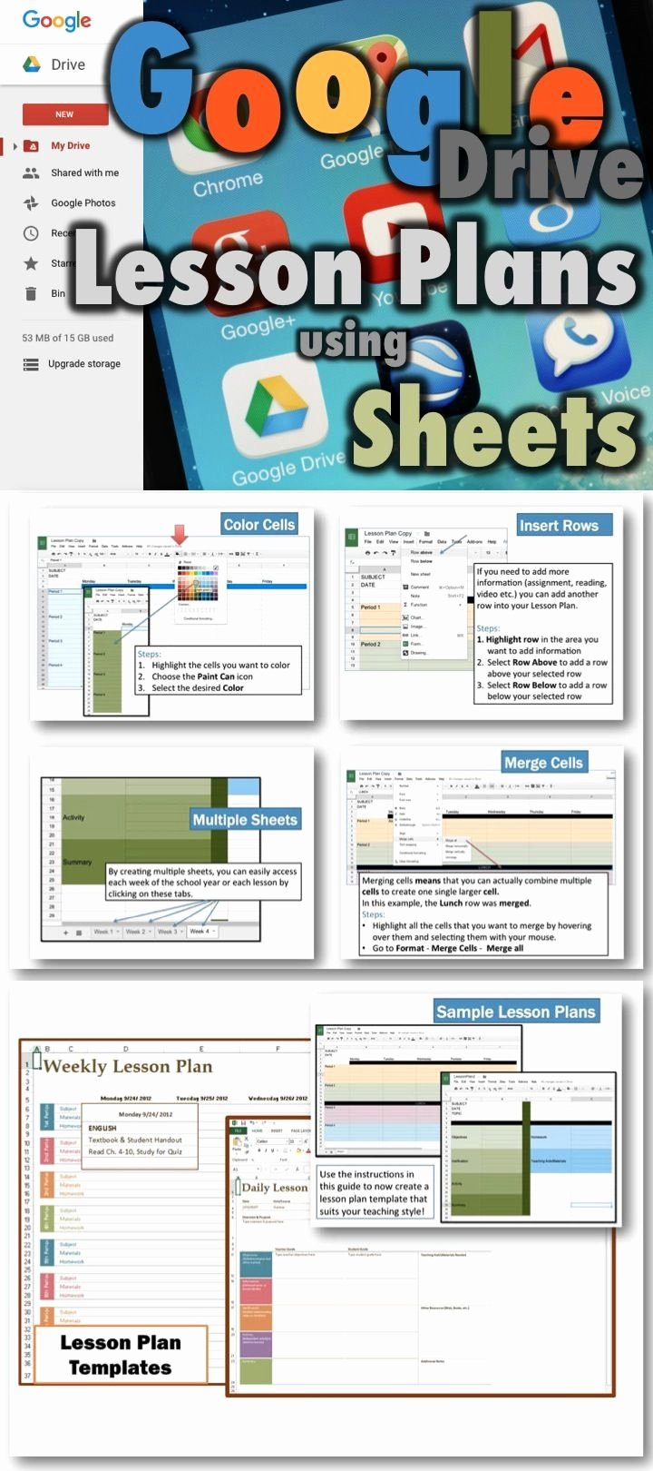 Middle School Schedule Template Beautiful Lesson Plans Using Google Drive Sheets