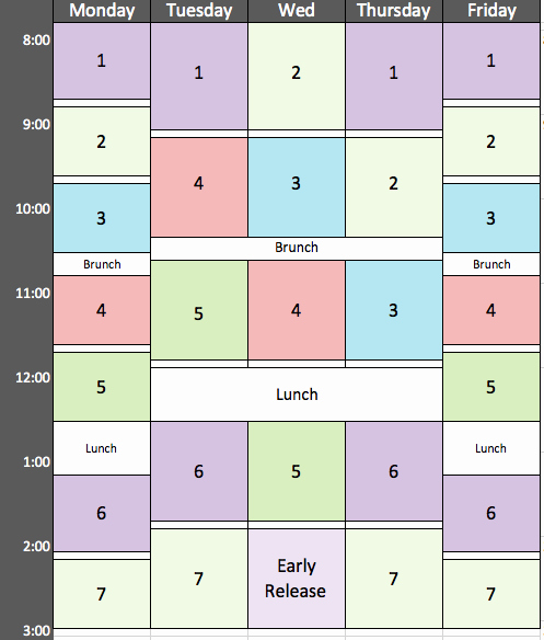 Middle School Schedule Template Beautiful Quotes About Block Scheduling 26 Quotes