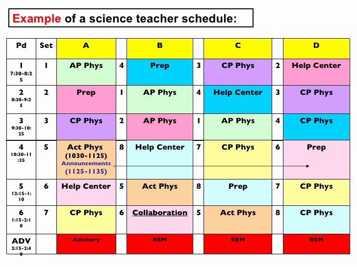 Middle School Schedule Template Fresh Harriton Hs Modified Block Publish