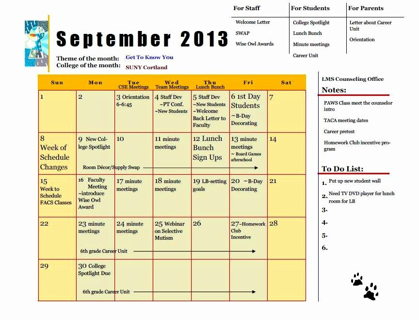 Middle School Schedule Template Lovely What S In Your School Counseling Program Binder the