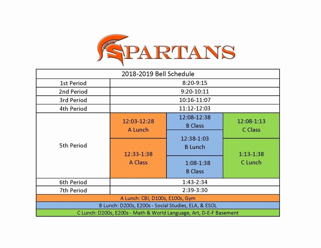 Middle School Schedule Template Luxury Sandy Springs Charter Middle School Calendar 2018